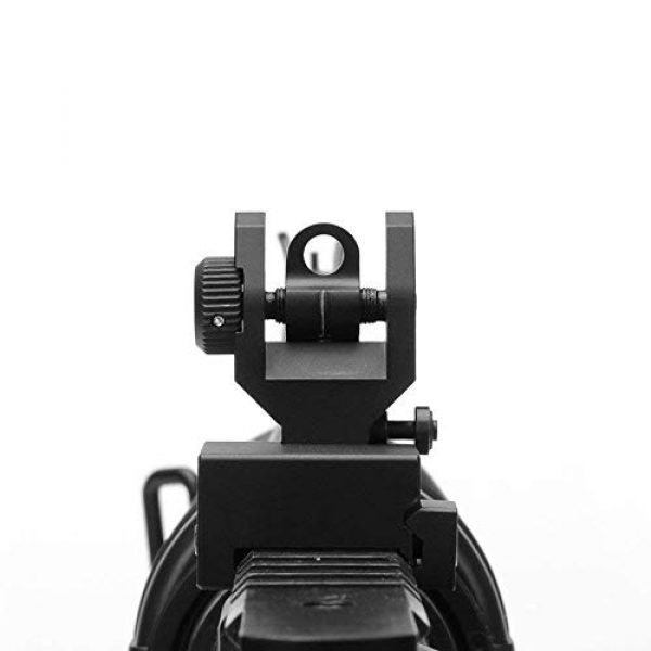 KTAIS Rifle Sight 1 KTAIS Flip up Front Rear Iron Sight Set Dual Half Moon Shape BUIS Sights fit 20mm Mount of Hunting Gun Rifle Airsoft Accessory (Color : Black)