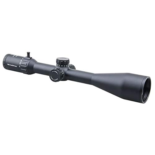 Vector Optics Rifle Scope 6 Vector Optics 6-30x56mm Second Focal Plane (SFP) Genii 1/10 MIL Tactical Riflescope with Red Illuminated Reticle, 30mm Mount Rings, Lens Cover, 3 Inch Sunshade (Matte Black)