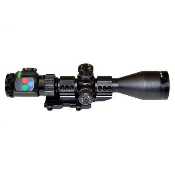 DB TAC INC Rifle Scope 3 DB TAC INC Presma EX Series Professional 3-12X44 Precision Scope, Red,Green,Blue Color RXR Reticle