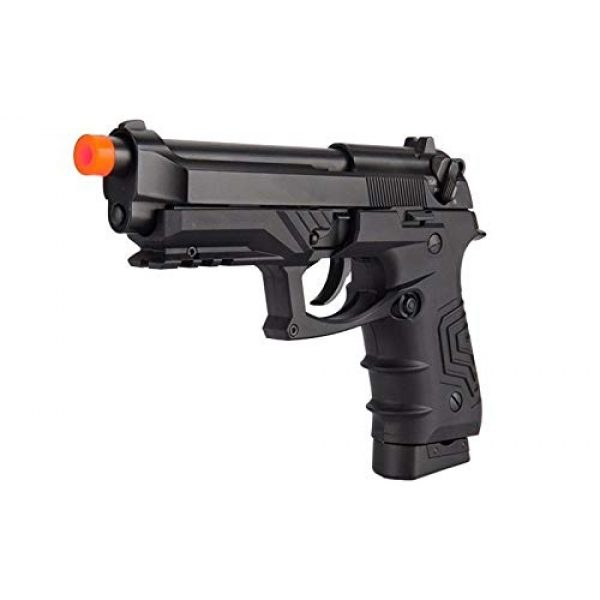 HFC Airsoft Pistol 3 HFC HG-173 M92 CO2 Blowback Airsoft 1911 Tactical Pistol Full/Semi Automatic Black with Gun Case