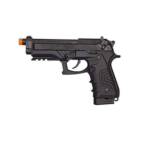 HFC Airsoft Pistol 1 HFC HG-173 M92 CO2 Blowback Airsoft 1911 Tactical Pistol Full/Semi Automatic Black with Gun Case