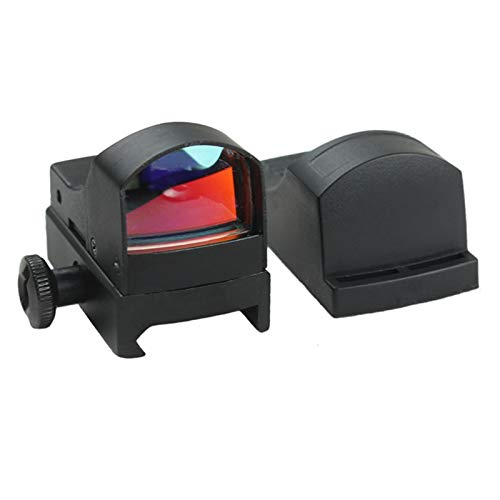 Without Rifle Scope 4 Toy Gun Sight Red dot Sight Magnification Mini Holographic Sight Light Red Green Dot Laser Scope Optics Sight (Color : Black)