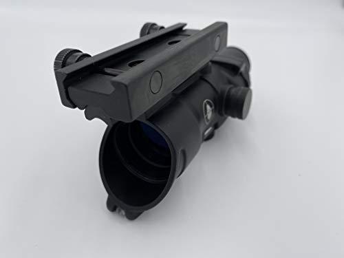 Spina Rifle Scope 6 Clone Skull ACOG 4X32 Fiber Lit Red Illuminated Chevron Scope Tactical