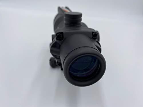 Spina Rifle Scope 2 Clone Skull ACOG 4X32 Fiber Lit Red Illuminated Chevron Scope Tactical