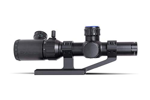 Monstrum Rifle Scope 1 Monstrum 1-3x20 Rifle Scope with Rangefinder Reticle | ZR255 H-Series Offset Scope Mount | Bundle