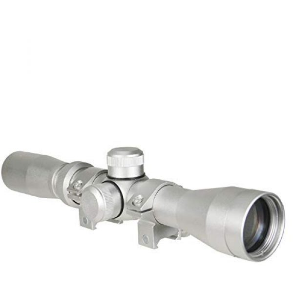 GOTICAL Rifle Scope 1 GOTICAL 2-7x32 Long Relief Scope, Silver Finish with Rings,Lens Cover,Scope