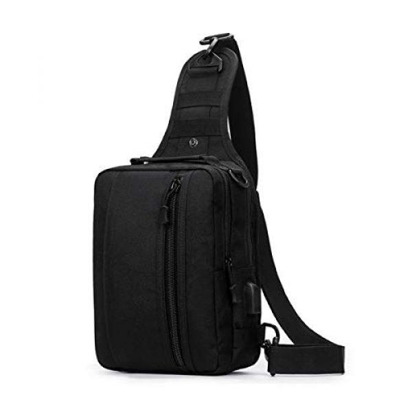 BraveHawk OUTDOORS Tactical Backpack 1 BraveHawk OUTDOORS Sling Shoulder Bag, 800D Military Nylon Multi-Purpose Daypack EDC Crossbody Pack Backpack Handbag