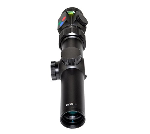 Presma Rifle Scope 6 Presma 1-6x28 Precision Rifle Scope/Etched Illuminated Reticle Emerald, Multi-Coated Lenses/Fog, Waterproof, Shockproof