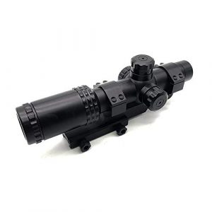 KTAIS Rifle Scope 1 KTAIS 8X Sight Scope Riflescope Green & Red Cross Tactical Hunting Optics Holographic Sight Toy Plastic Gun Accessories (Color : Black)