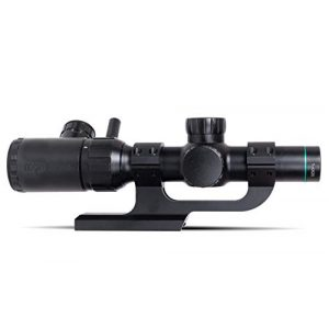 Monstrum Rifle Scope 1 Monstrum 1-4x20 Rifle Scope with Rangefinder Reticle | ZR250 H-Series Offset Scope Mount | Bundle