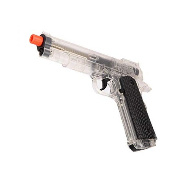 WellFire Airsoft Pistol 3 WellFire G292B-CR M1911 CO2 Airsoft Non-Blowback Pistol Clear