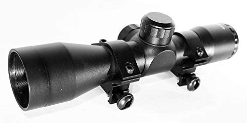 TRINITY Rifle Scope 5 Trinity Hunter Scope 4X32 with Base Rail Adapter for Ruger 1022 Hunting Tactical Optics Picatinny Weaver Mount Adapter Aluminum Black Target Range Accessory Single Rail Mount.