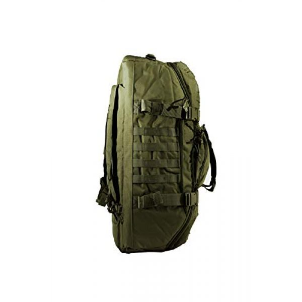 """World Famous Sports Tactical Backpack 3 World Famous Sports 45 Liter Tactical Duffel Bag, OD Green, 21""""x14""""x12"""" (TB-621-OD)"""