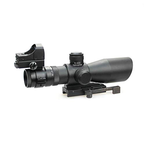 DJym Rifle Scope 5 DJym 3-9X42E and HD107R Combined Sights, Rifle Scope Waterproof, Shockproof and Anti-Fog