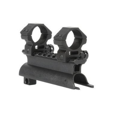 """Ultimate Arms Gear Rifle Scope 5 Ultimate Arms Gear Tactical SKS 7.62x39 Rifle See Through Receiver Cover Replacement Scope Mount With 2-7x32 Rifle Duplex Sniper Reticle Scope With Included 7/8"""" Weaver-Picatinny Scope Rings"""
