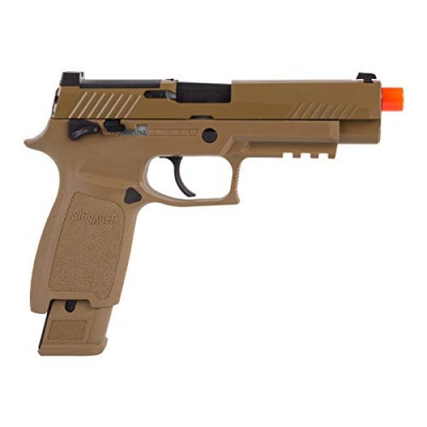 Sig Sauer Airsoft Pistol 3 Sig Sauer, SIG AIR, ProForce M17 Gas Blowback Airsoft Pistol, Coyote Tan, One Size