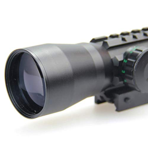 DJym Rifle Scope 3 DJym Used for Hunting Rifle red dot Sight, 2x30 HD Blue Film Red and Green Aiming Nitrogen Waterproofing Anti-Fog