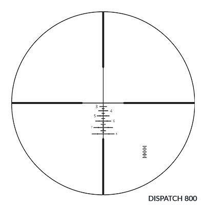 Vanguard Rifle Scope 3 VANGUARD Endeavor RS IV 4-16x44mm Riflescope, Dispatch 800 Reticle, Illuminated