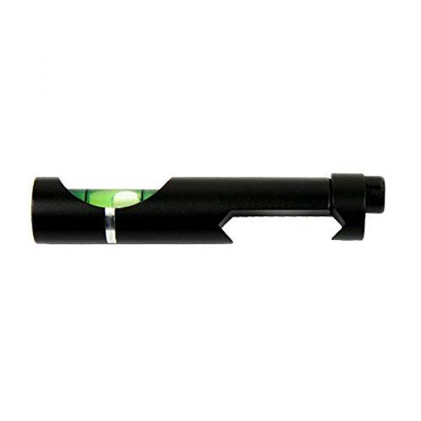 COLIBROX Rifle Scope Accessory 5 Metal Spirit Bubble Level for 20 mm Picatinny Weaver Rail Rifle Sight Scope Mount