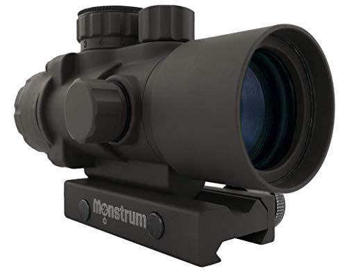 Monstrum Rifle Scope 2 Monstrum S330P 3X Prism Scope | RM5-AH Adjustable Height Riser Mount with Quick Release | Bundle