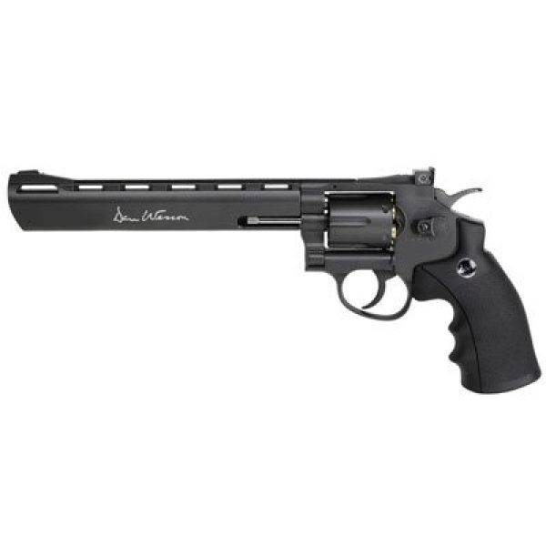 "Smith & Wesson Air Pistol 1 Dan Wesson 8"" CO2 BB Revolver, Black - 0.177 Caliber"