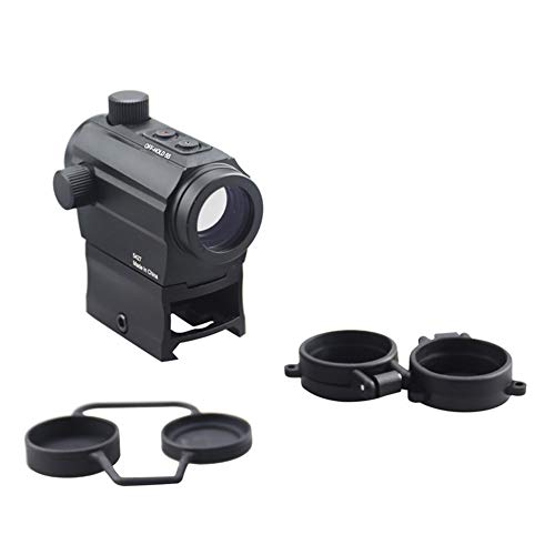 DJym Rifle Scope 6 DJym Red Dot Button Sight, Rifle Scope for Hunting Game Nitrogen-Filled Waterproof and Anti-Fog