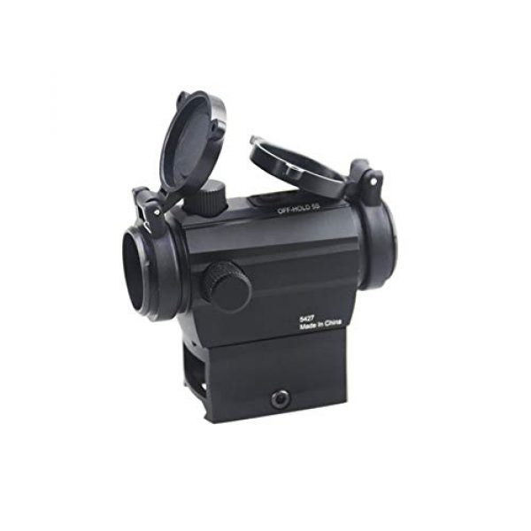 DJym Rifle Scope 3 DJym Red Dot Button Sight, Rifle Scope for Hunting Game Nitrogen-Filled Waterproof and Anti-Fog