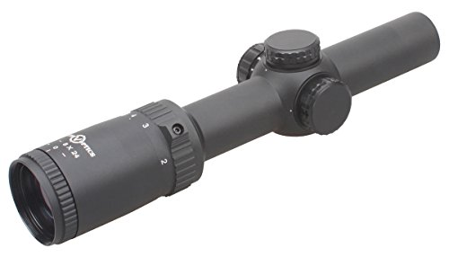 TAC Vector Optics Rifle Scope 3 TAC Vector Optics Thanator 1-8x24 CQB Compact Riflescope 1/10 MIL Adjust Scope Low Profile Turret VTC MIL Size Etched Glass Reticle