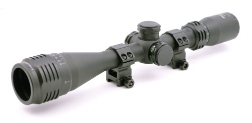 Hammers Rifle Scope 1 Hammers Illuminated Varmint Hunting Riflescope 4-16X40AO w/Sunshade and Weaver Scope Rings