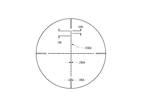 Ade Advanced Optics Rifle Scope 7 Ade Advanced Optics 6-25x56 35mm Long Range Rifle Scope Mil-dot Bar Side Focus