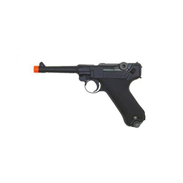 WE Airsoft Pistol 1 WE p-08 short version gas blowback full metal - black(Airsoft Gun)
