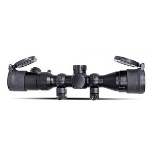 Monstrum Rifle Scope 1 Monstrum 3-9x32 AO Rifle Scope with Illuminated Range Finder Reticle and Parallax Adjustment | Monstrum Flip Up Scope Cover Set | Bundle