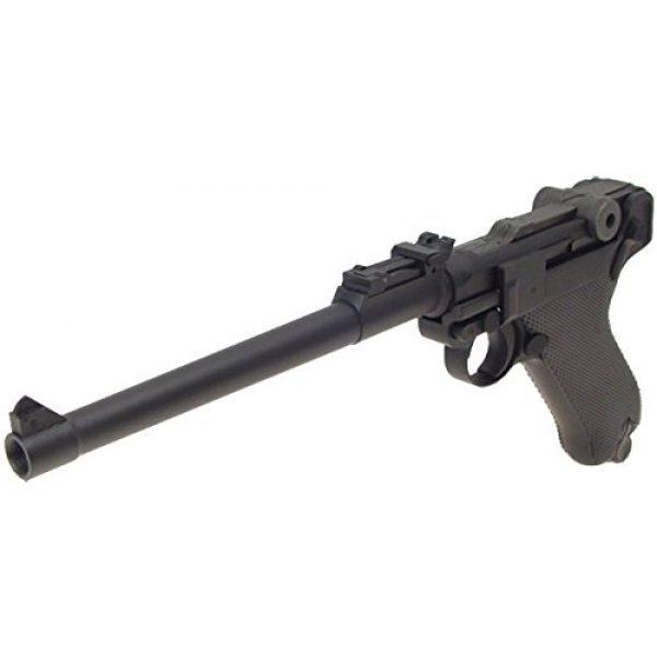 WE Airsoft Pistol 4 WE p-08 long version gas blowback full metal - black(Airsoft Gun)