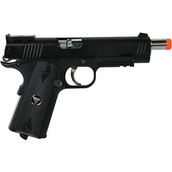 WinGun Airsoft Pistol 4 WinGun Special Combat Pistol 1911 CO2 Blowback Airsoft Gun Black with Black Grip