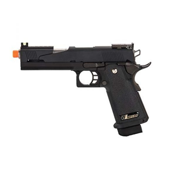 Lancer Tactical Airsoft Pistol 1 Lancer Tactical WE-Tech Black Dragon 5.1 Competition Series Hi-Capa Full Auto Gas Blowback Airsoft Pistol Black