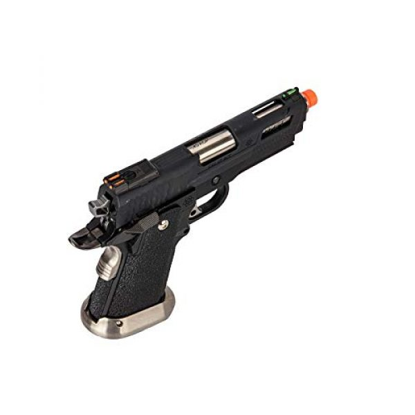 Lancer Tactical Airsoft Pistol 3 Lancer Tactical WE-Tech Hi-Capa 3.8 Brontosaurus Full Auto Gas Blowback Airsoft Pistol Black