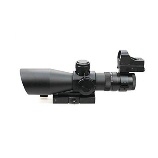 DJym Rifle Scope 2 DJym 3-9X42E and HD107R Combined Sights, Rifle Scope Waterproof, Shockproof and Anti-Fog
