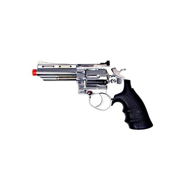 HFC Airsoft Pistol 7 HFC model-132 4 revolver a2 silver by hfc(Airsoft Gun)