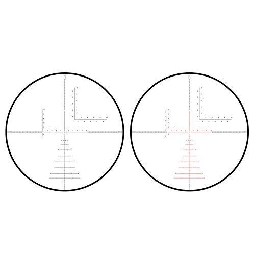 Sniper Rifle Scope 5 Sniper KT 1-12X24 SAL Rifle Scope 35mm Tube Glass Etched Reticle Red Illuminated with Scope Rings