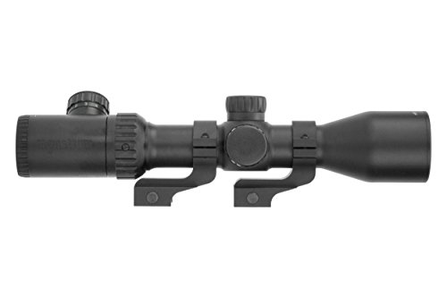 Monstrum Rifle Scope 1 Monstrum 3-12x42 AO Rifle Scope with Illuminated Mil-Dot Reticle and Offset Reversible Scope Rings