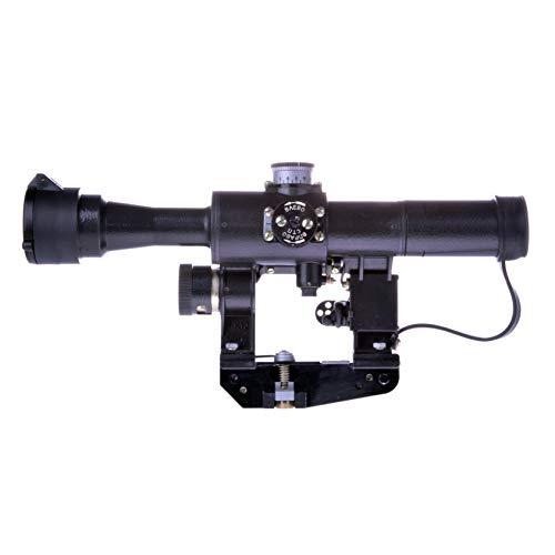 BelOMO Rifle Scope 3 BelOMO POSP 4x24 M. Optical Rifle Scope. Russian Side Mount. 1000m Rangefinder. 1 MOA. Combloc