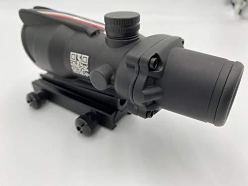 Spina Rifle Scope 3 Clone Skull ACOG 4X32 Fiber Lit Red Illuminated Chevron Scope Tactical
