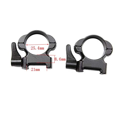 Without Rifle Scope 1 Toy Gun Sight Red dot Sight Magnification Steel Weaver Mount 1 Inch High Matte Lever Lok Top Mount Rings (Color : Blue)