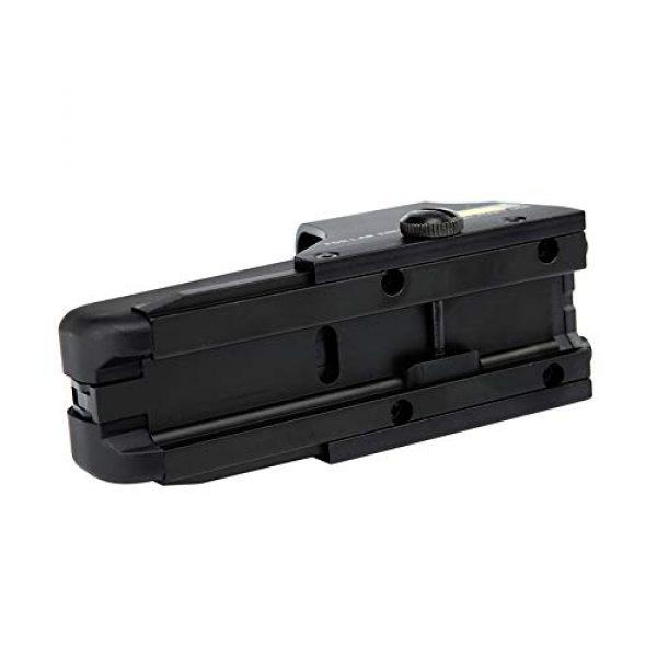 DJym Rifle Scope 4 DJym HD 1X Magnification Red Dot Sight, 22mm Rail Waterproof Shockproof Sight