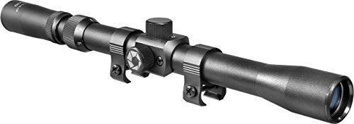 BARSKA Rifle Scope 1 BARSKA Riflex 40mm AC10003 3-7x20 Rimfire, Black Matte, 30/with STD Ring, Clam