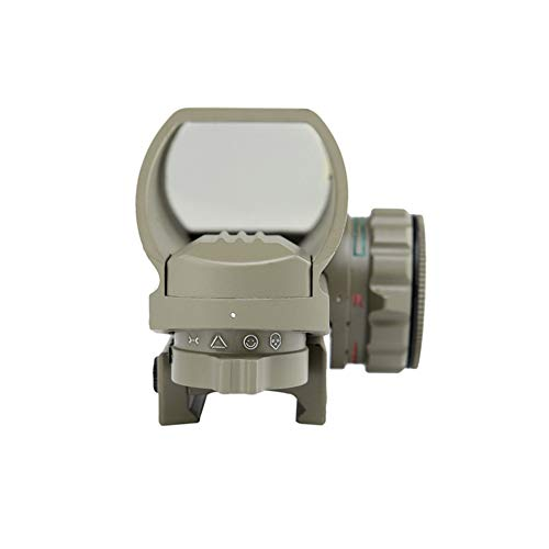 DJym Rifle Scope 4 DJym Sand Color Red and Green Dot Reflex Sight Scope with Broad Gauge Electrodeless Used for Hunting Rifle Scope