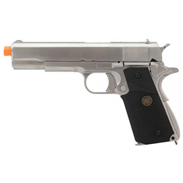 Lancer Tactical Airsoft Pistol 1 Lancer Tactical WE M1911 Full Metal MEU Gas Blowback Airsoft Pistol Silver Black