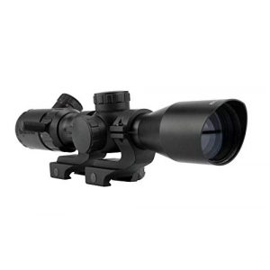 Monstrum Rifle Scope 1 Monstrum 2-7x32 Rifle Scope with Rangefinder Reticle | Monstrum Offset Picatinny Scope Rings | Bundle