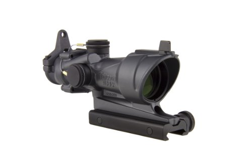 Trijicon Rifle Scope 1 Trijicon ACOG TA01-D-100317 4x 32 Tritium Only, Center Illuminated Amber Crosshair .223 Reticle Scope, Sniper Gray