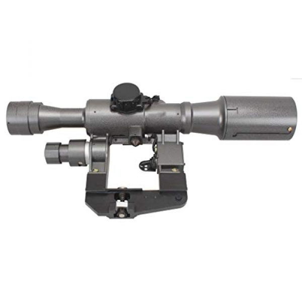 Vector Optics Rifle Scope 6 Vector Optics SVD Dragunov 4x24mm First Focal Plane (FFP) Tactical Riflescope with Red Illuminated Rangefinding Reticle